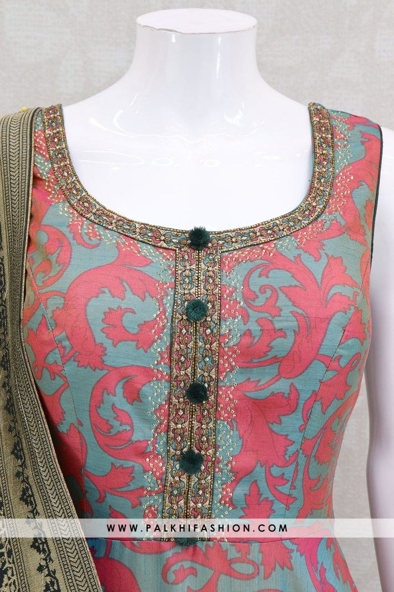 Attractive Printed Indian Designer Outfit With Appealing Style & Silk Dupatta