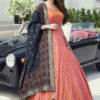 Light Orange Indian Designer Outfit With Appealing Designs