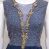 Pure Georgette Navy Blue Indian Designer Outfit With Appealing Work Palkhi Fashion