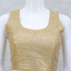 Soft Sequin Work Blouse In Gold Color From Palkhi Fashion