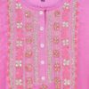 Beautiful Pink Color Silk Kurti With Attractive Hand Work