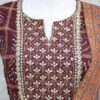 Marvellous Maroon Pure Silk Indian Designer Outfit With Appealing Work