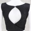 Pure Georgette Thread Work Ready Made Blouse In Black Color