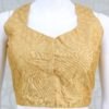 Sequin Work Ready-Made Blouse In Gold Color