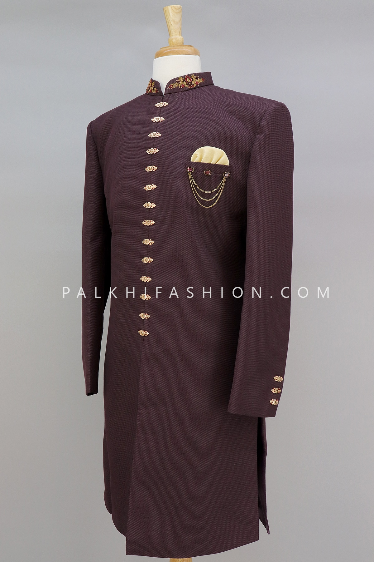 Wine Silk Indo-Western With Attractive Style-Palkhi Fashion